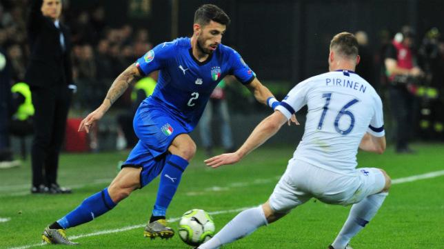 Piccini fue titular con Italia este fin de semana en el choque contra Finlandia