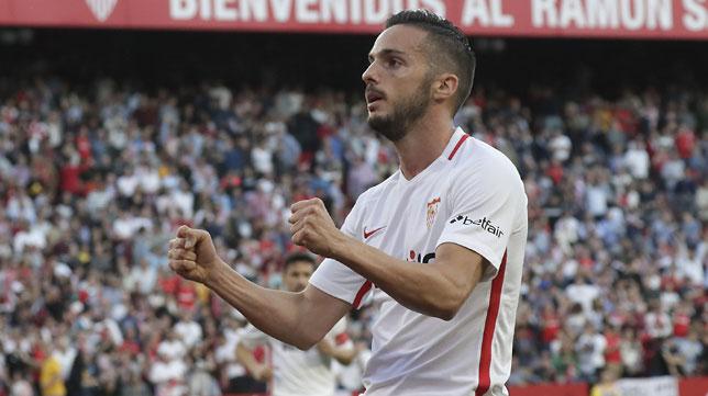 Sarabia, en el Sevilla-Real Sociedad (J. M. Serrano)