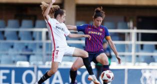 Lance del FC Barcelona-Sevilla FC Femenino