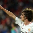 Bryan Gil celebra su gol al Rayo (AFP)