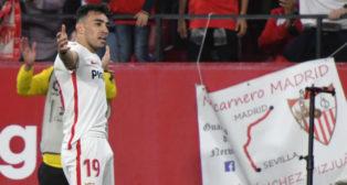 Munir celebra su gol (Juan José Úbeda)