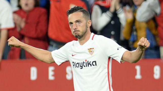 Sarabia celebra su gol (AFP)