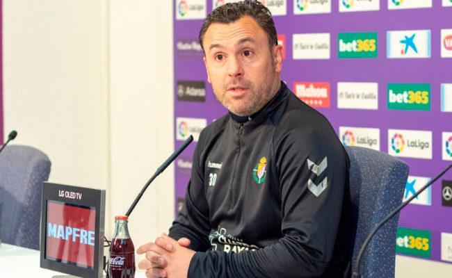 Sergio González, durante una rueda de prensa (Foto: REAL VALLADOLID)