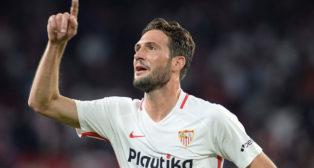 Franco Vázquez celebra el 3-1 en el Sevilla-Betis (AFP)