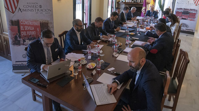 Imagen del Consejo de Administración celebrado en Villalba del Alcor (SFC)