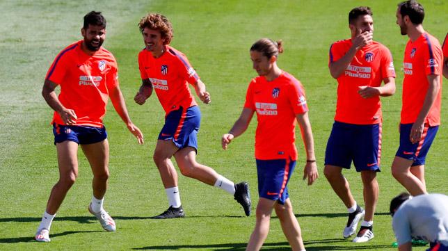 Entrenamiento del Atlético de Madrid (Foto: EFE)