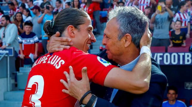 Caparrós se abraza con Filipe