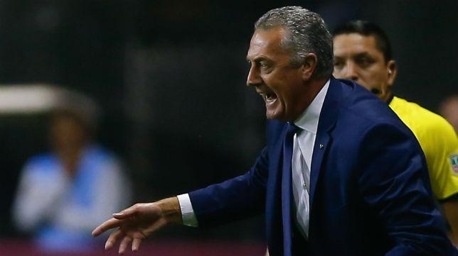 Gustavo Alfaro, en el duelo del pasado jueves de la Copa Libertadores contra el Atlético Paranaense