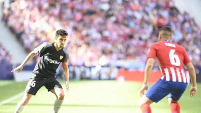 Jesús Navas en el encuentro ante el Atlético de Madrid. Foto: LaLiga