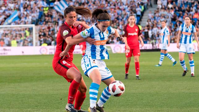 Marta Carrasco, durante un partido esta temporada (Foto: SFC)