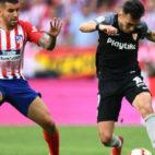 Munir, en el Atlético-Sevilla