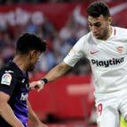 Munir, en un lance del Sevilla-Leganés (EFE)