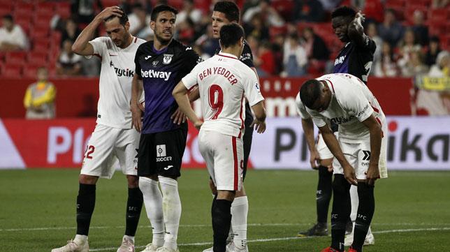 Lance del duelo entre el Sevilla y el Leganés (Manu Gómez)