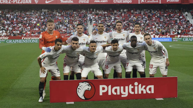 Once del Sevilla FC ante el Leganés. Foto: LaLiga