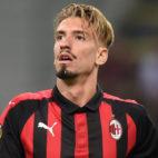 Samu Castillejo, durante un partido con el Milan de esta temporada (Foto: Reuters).