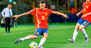 Dani Ceballos, en un partido con la selección sub 21 (Foto: EFE)