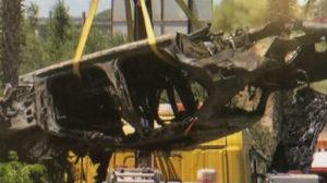 Así quedó el vehículo que conducía Reyes (Foto: Canal Sur)