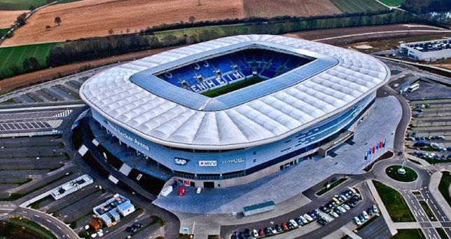 El estadio del Hoffenheim, club alemán al que se enfrentará el Sevilla FC en su pretemporada.