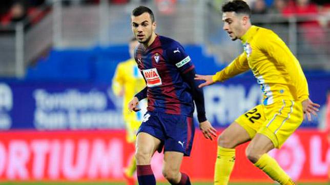 Joan Jordán, durante un partido con el Eibar (Foto: LaLiga)