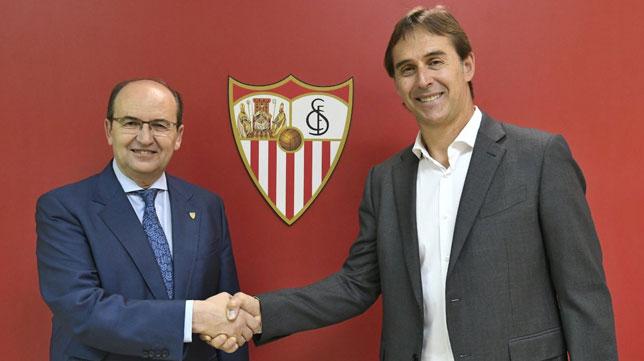 Julen Lopetegui entrenador del Sevilla FC