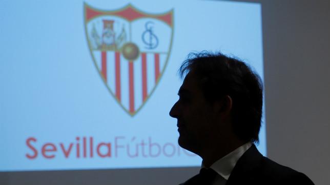 Lopetegui, en su presentación con el Sevilla FC