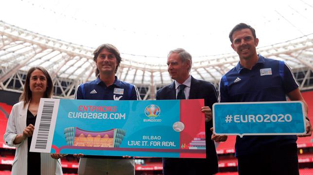 Presentación de las campañas de la Euro 2020 en San Mamés (Foto: EFE)