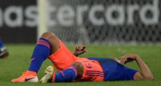 Muriel cae lesionado en el Colmbia-Argentina de la Copa América (Foto: AFP)