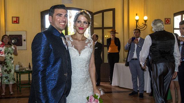 José Antonio Reyes y su mujer, Noelia, el día de su boda