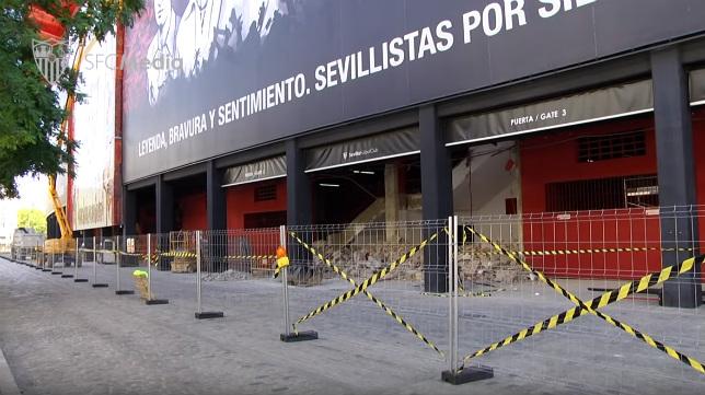 Obras en la zona de Preferencia del Sánchez-Pizjuán (SFC)