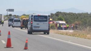 El lugar del accidente del vehículo de José Antonio Reyes (Foto: Vanessa Gómez).
