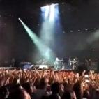 Imagen del inicio del concierto de Alejandro Sanz en el Benito Villamarín