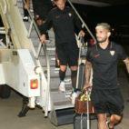 Banega, a su llegada a Dallas (foto: Sevilla FC)