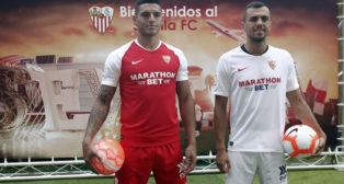 Diego Carlos y Jordán, en su presentación como jugadores del Sevilla FC (Manu Gómez)