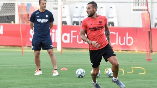 Primer entrenamiento de Gudelj como sevillista (Foto: Sevilla FC)