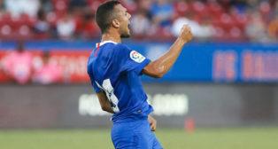 Jordán celebra su gol en el FC Dallas-Sevilla FC (EFE)