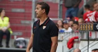 Julen Lopetegui, durante el Everton - Sevilla FC de la Opel Cup (SFC)