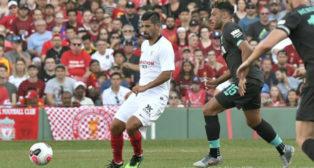 Nolito, durante el Liverpool-Sevilla celebrado en Boston (Foto: Sevilla FC)