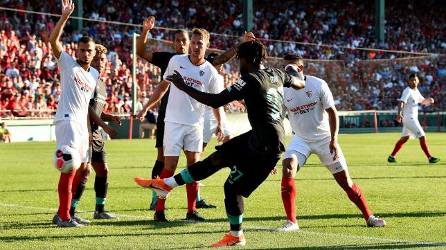Origi anotó para los ingleses en el Liverpool-Sevilla (Foto: Liverpool FC)