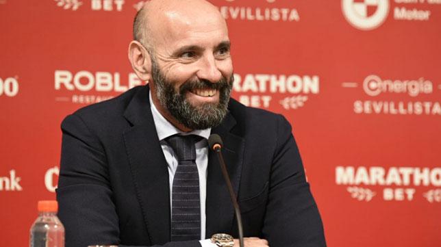 Monchi, durante la presentación (Foto: Sevilla FC).