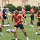 Jesús Navas, durante el primer entrenamiento del Sevilla FC en Estados Unidos (Foto: Sevilla FC)