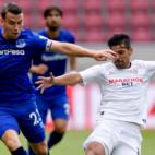 Nolito, en un lance del Everton - Sevilla FC (EFC)