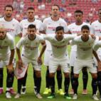 Once inicial del Sevilla FC ante el Everton en la Opel Cup (SFC)