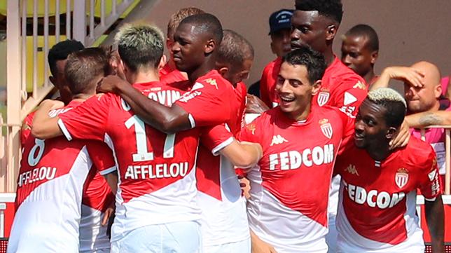 Ben Yedder celebra su primer gol en el AS Mónaco (Foto: AFP)