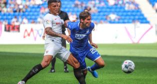 Diego Carlos, en una acción defensiva ante el Hoffenheim (Foto: EFE)
