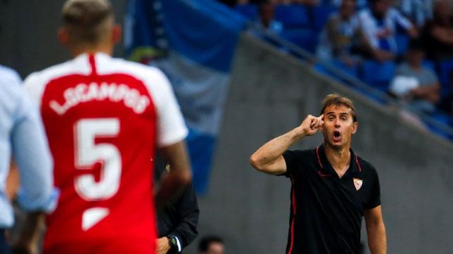 Lopetegui, durante el Espanyol-Sevilla (Foto: EFE)