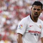 Nolito se lamenta durante el Sevilla-Celta (Manu Gómez)