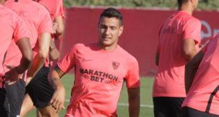 Rony Lopes se ejercita con el Sevilla (foto: Manu Gómez)