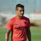 Rony Lopes se ejercita con el Sevilla (foto: SFC)