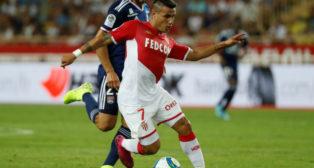 Rony Lopes, durante el Mónaco-Olympique Lyonnais de la primera jornada de la Ligue 1