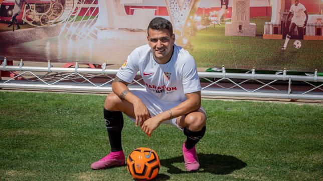 Rony Lopes, en su presentación como jugador del Sevilla FC (Foto: Vanessa Gómez)